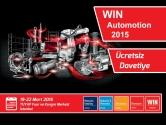 WIN Automation 2015 Fuarı İçin Ücretsiz Davetiye