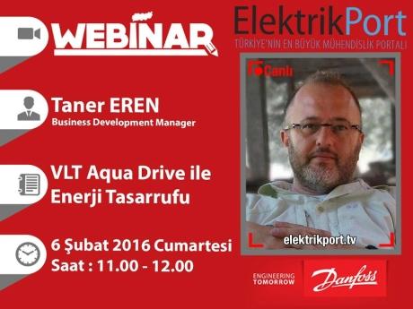 Cumartesi Seminerleri | VLT Aqua Drive ile Enerji  Tasarrufu