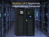 Modüler UPS Seçiminde Dikkat Edilmesi Gerekenler - 1. Bölüm