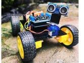 Arduino ve Ultrasonik Sensör ile Engelden Kaçan Robot Yapımı