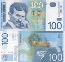 tesla sırp parası 100 dinar