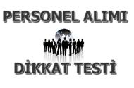 Personel Alımı Dikkat Testi Soruları 1
