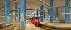 İstanbul'un en yeni metrosu Otogar-Bağcılar-Mahmutbey-Olimpiyatköy-Başakşehir Metrosu'ndan bir görüntü.