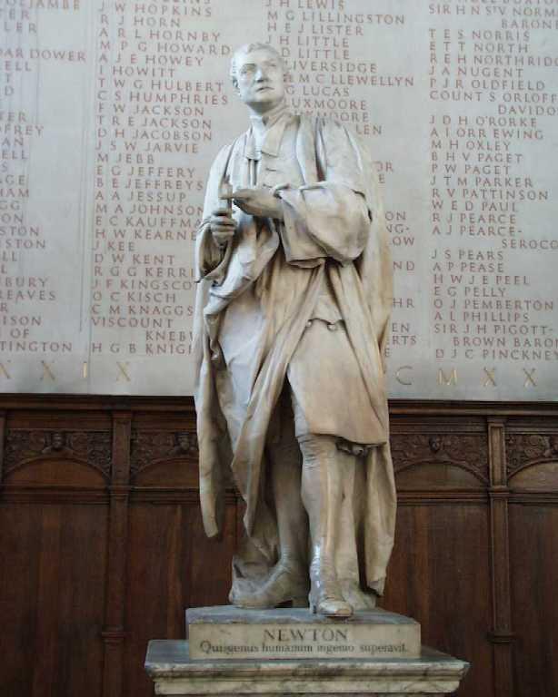 Isaac Newton'un Cambridge Üniversitesi'ndeki Heykeli