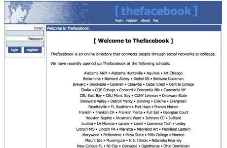 Facebook ilk Harvard'da açıldığında ismi thefacebook'du ve sonradan diğer okullara da yayıldı.
