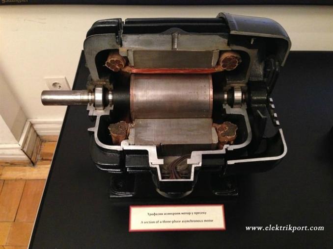 Tesla'nın elinden çıkmış 3 faz bir asenkron motor
