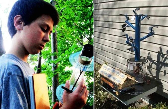 Listedeki en küçük mucit olan 7. sınıf öğrencisi Aidan Dwyer, ağaç dallarında ki dizilişin güneş enerjisinden elde edilen verimi arttıracağını düşünüyordu. Fibonacci dizi kullanarak oluşturduğu sistem, güneş enerjisinden %20-50 arası daha fazla enerji eldesi sağlıyor. Dwyer, biyobenzetim sistemindeki hesaplamarı kesin olarak kanıtlayana kadar geçici patent kazandı.