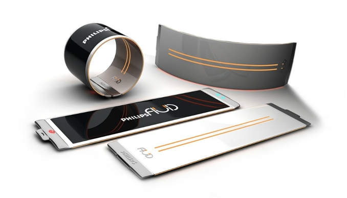 Esnek telefon konsepti; birçok firmanın hedefleri arasında olan esnek telefonlar günümüzden çok uzak değil. Phlips tarafından tasarlanan bu cihazın ismi Fluid. Bu telefonun en önemli özelliği ise bir kol saati gibi giyilebilir olması.
