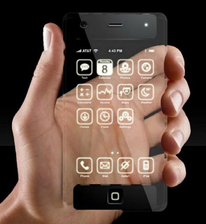 Geleceğin akıllı telefonları arasında en popüler olan tasarımlardan biri de şeffaf ekranlı telefonlar.