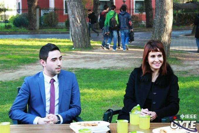 Etkinlik öncesi Kocabaş 'a okulumuz tanıtıldı.