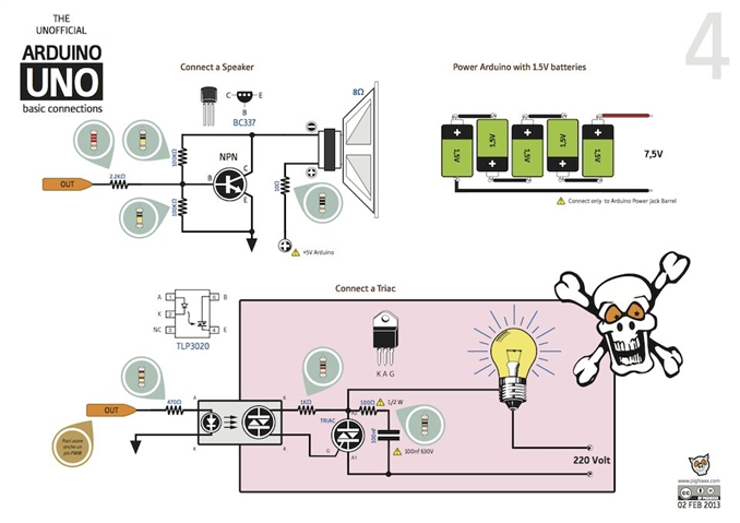 Hoparlör bağlama transistörle sürme, seri pil bağlantısı ile Arduino sürme, Arduino ile triac bağlantısı 220V sürme.