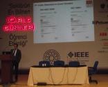 """EAE ELEKTRİK Proje ve Satış Müdürü Ahmet Menekşe, """"EAE Aydınlatma ile Tasarruf Çözümleri"""" konulu sunumunu üniversite öğrencileriyle paylaştı. Sunumunda Menekşe, Led armatürlerinin teknik bilgilerinden ve enerji verimliliği açısından yararlarından söz etti. EAE aynı zamanda yurt içi ve yurt dışı birçok projede adından söz ettirmektedir diyen Menekşe hatta diğer firmalardan bu projede de mi EAE diye esprili söylenmeler aldıklarını belirtti."""