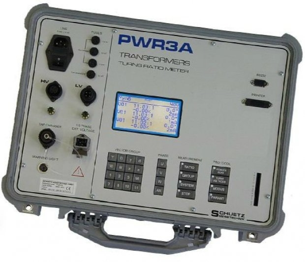 [Sanpa Elektronik] PWR3A, SCHUETZ TTR Cihazının 0.75'den 20,000 'e kadar oran kademesi ile tam otomatik ölçümler yaparak testleri gerçekleştirebilirsiniz.