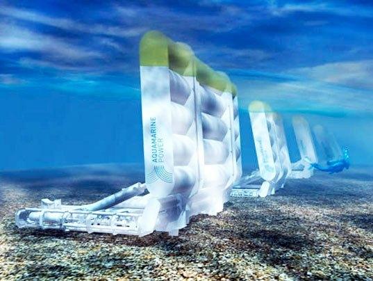 Oyster: Dalgalar ile aktif hale gelen, osilatör ve pistonlar ile donatılmış dev makine, su altına döşenmiş bir boru hattı ile suyu pompalıyor. Pompalanan su elektrik üretiminde kullanılıyor. 1 Oyster, 300 evin elektrik ihtiyacını karşılayabilecek potansiyele sahip.