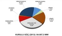 2013 yılı verilerine göre Türkiye'de Elektrik Enerjisi Kurulu gücü oranları grafikte verilmiştir.Grafiğe göre son 3 yılı karşılaştırdığımızda termik enerjinin zirveyi yaşadığı yıl olarak 2013' ü gösterebiliriz.