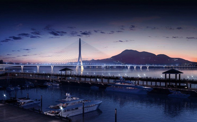 Danjiang Bridge: Tamamlandığında 920 metre uzunluğunda olacak olan köprü, dünyanın en uzun tek kule asimetrik kablo köprüsü olacak. Danjiang Köprüsü, Kuzey Tayvan'daki altyapı iyileştirme programının ayrılmaz bir parçası olarak görülüyor.