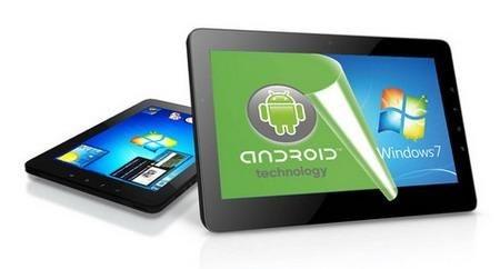 Viewsonic ViewPad 10Pro: Berlin'deki tüketici elektroniği fuarına ilgi gösteren ender ABD'li teknoloji üreticilerinden olan Viewsonic'in IFA'da tanıttığı ViewPad 10Pro, çift işletim sistemi ile farklılaşıyor. Avrupa'da 499 Euro'ya bu ay satışa çıkacak olan tablet hem Windows 7 Professional hem de Android 2.3 Gingerbread işletim sistemini barındırıyor. <br/><br/><p> </p>