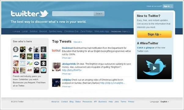 10. Twitter<br /><br/><br/>İngiliz The telegraph gazetesi, 2010 yılına damgasını vuran en popüler 10 teknolojiyi sıraladı. Geri sayımda 10. sırada Twitter var. <br/><br/><p> </p>