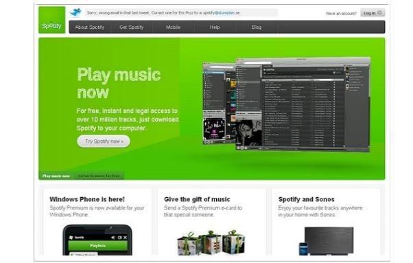 8. Spotify müzik servisi